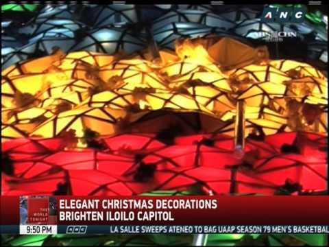 Elegant Christmas decorations brighten Iloilo Capitol