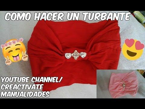 How to make a turban como hacer un turbante turbante - Como hacer un dosel para cuna ...