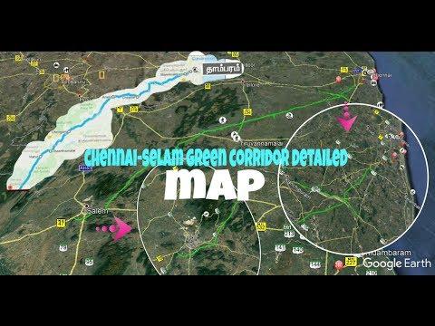    Chennai  to Salem GREEN CORRIDOR EXPRESS HIGHWAY MAP-2   சென்னை- சேலம் பசுமை விரைவு சாலை   part 2