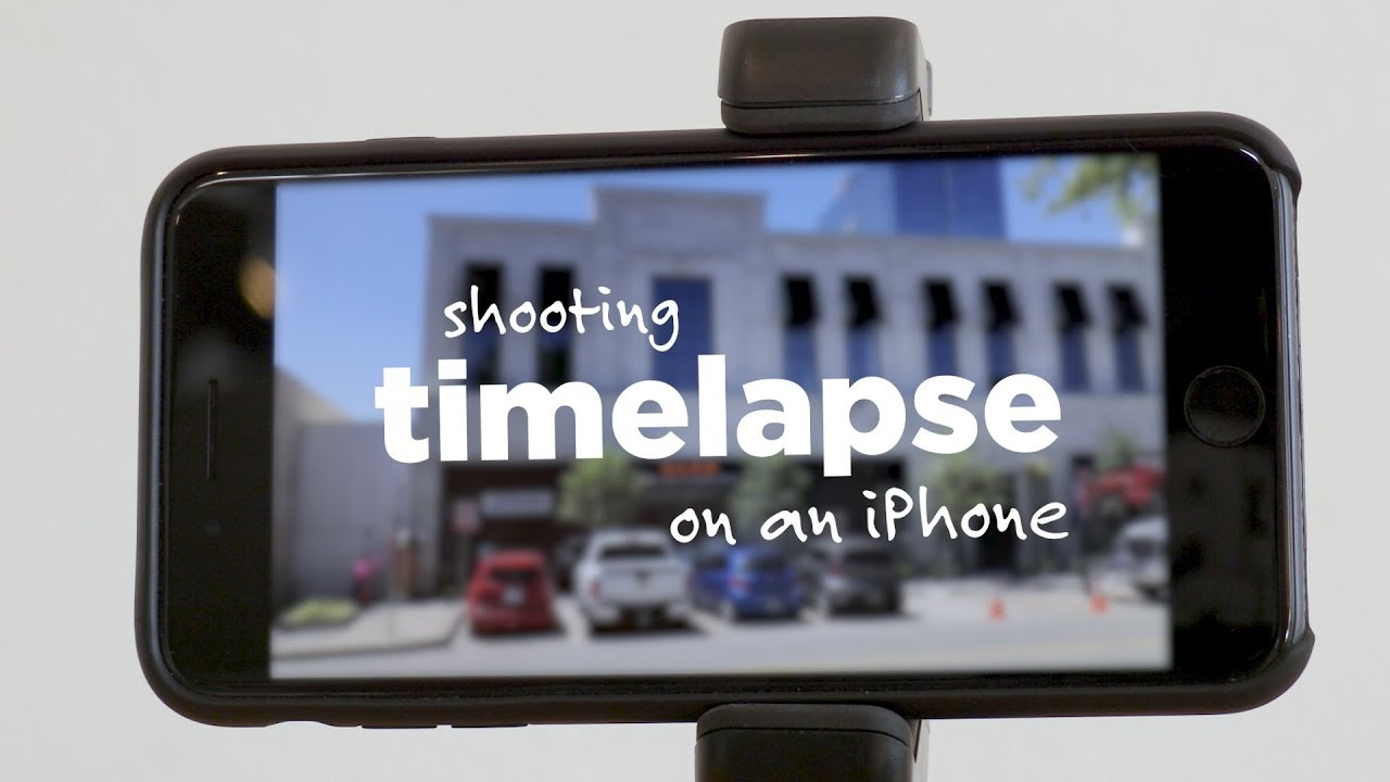 Shooting TIMELAPSE on an iPhone