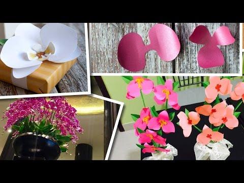 HOW TO DIY PAPER ORCHIDS / CRAFT WITH KIDS - SUMMER VACATION SPECIAL VIDEO (EP 58)