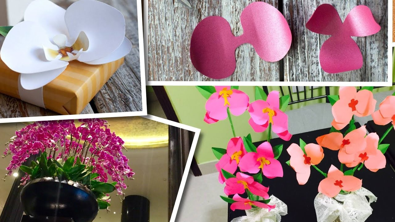 Orchid Flower Making With Paper Kubreforic