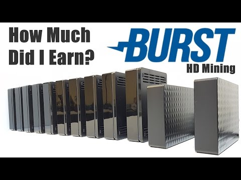 How Much Did I Earn? Burstcoin HardDrive Mining