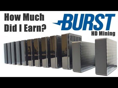 How Much Did I Earn? Burstcoin HardDrive Mining