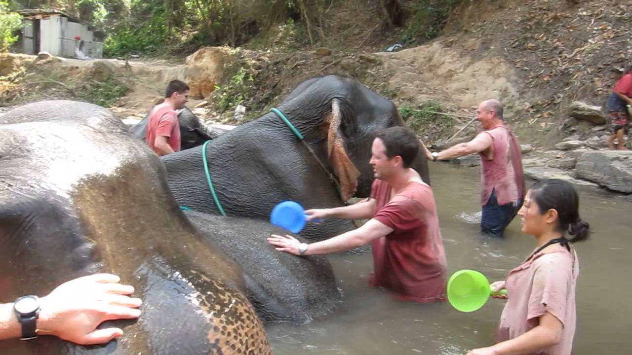 bathing in river youtube