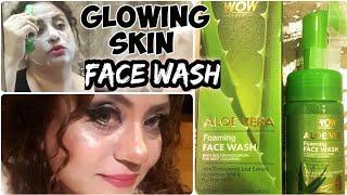 WOW Aloe Vera Foaming face wash Review & Demo | Get Glowing Ski