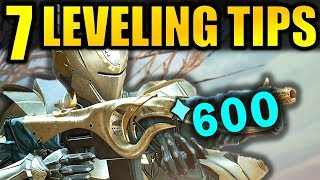 Destiny 2: 7 BIG LEVELING TIPS! - Get to 600 Power Fast! | Forsaken