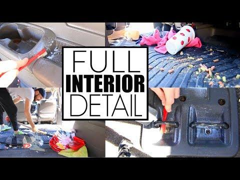 Full Car Interior Cleaning || Car Cleaning My Disgusting Minivan || Car Detailing