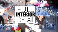How To Clean Car Interior || Car Detailing The Mini Van...
