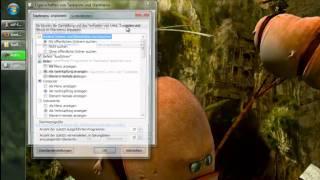 Ausführen und Netzwerk in Windows 7 Startleiste Aktivieren