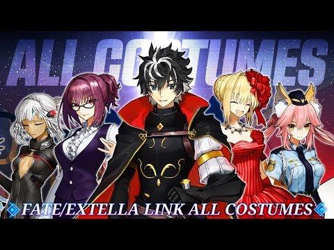 Fate Extella Link! All Unlockable Costumes!