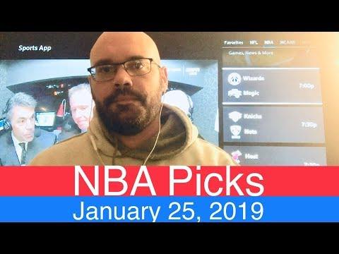 NBA Picks (1-25-19) | Basketball Sports Betting Expert Predictions | Vegas Odds | January 25, 2019