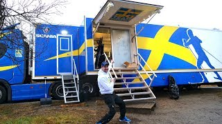 INSIDE SKI TEAM SWEDENS WAXING TRUCK
