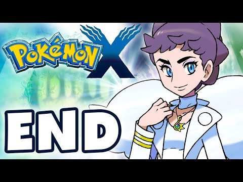 Pokemon X and Y - Gameplay Walkthrough Part 48 - ENDING! Elite Four, Champion Diantha (Nintendo 3DS)