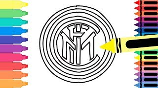 How To Draw Inter Badge - Drawing The Inter Milan Logo - Coloring Pages For Kids | Tanimated Toys