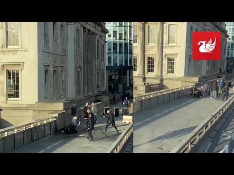 London Bridge 'terror attack' as heroes wrestle knife from man