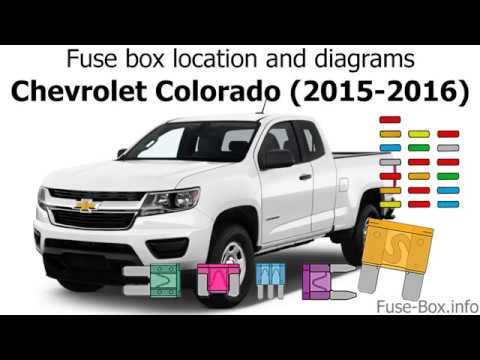 2015 chevrolet colorado wiring diagram fuse box location and diagrams chevrolet colorado  2015 2016  fuse box location and diagrams