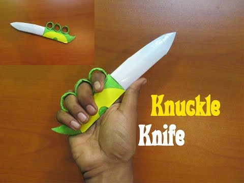 How to make a paper knuckle knife - Easy Tutorials