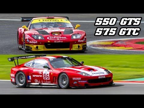 Ferrari 550 GTS + 575 GTC At Spa 2017