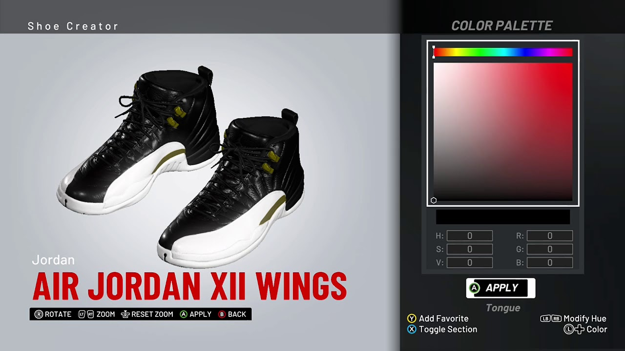 a66e6d95163 NBA 2K19 Shoe Creator - Air Jordan 12