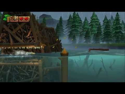Donkey Kong Country: Tropical Freeze - 100% Walkthrough - 2-4 Sawmill Thrill (Puzzle And KONG)