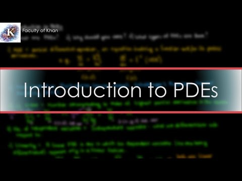 Introduction to Partial Differential Equations: Definitions/Terminology