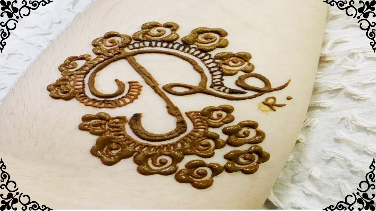 Very Beautiful Alphabet Tattoo Mehndi Design