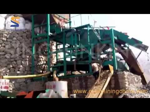 SLK-ZD300 Vibrating Screen Gold wash plant working at site