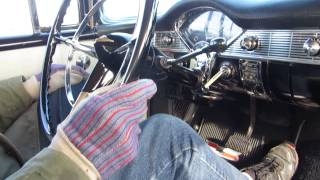 VERY COLD Start 1956 Chevy Bel Air & LONG Drive!!!