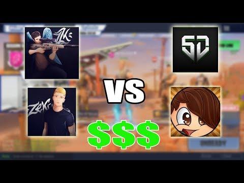 Zeko, Zzk vs Oscurlod, Santidead - Apostando $$$ en 2vs2 Fortnite