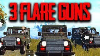 3 FLARE GUNS!! BEST PLACE TO FIND A FLARE GUN in PUBG Mobile
