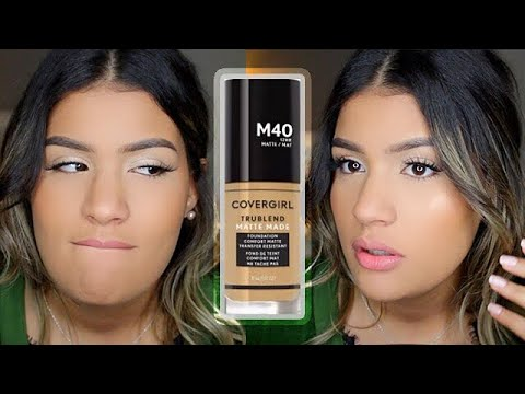 BASE MATE Y PERFECTA POR 12 HORAS?! 😐 | Covergirl TruBlend Matte Made Foundation | AbrilDoesMakeup ♡