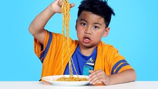 Spicy Noodle Challenge | Kids Try | HiHo Kids