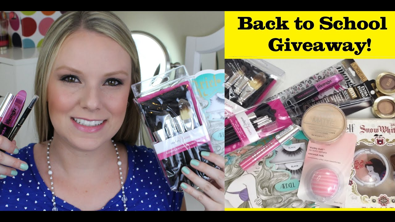 Back to school makeup tutorial giveaway youtube back to school makeup tutorial giveaway baditri Gallery
