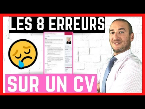 🎯COMMENT FAIRE UN CV EN EVITANT LES 8 ERREURS CLASSIQUES?