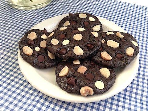 Flourless Brownies Cookies คุ้กกี้บราวนี่สูตรไร้แป้งไร้เนยยย