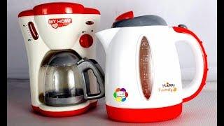 لعبة غلاية الشاى الحقيقية وماكينة القهوة الجديدة للأطفال اجمل العاب الطبخ العاب بنات واولاد