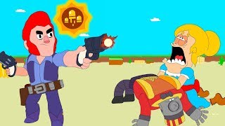 BRAWL STARS ANIMATION: RICO VS COLT (STAR POWER)