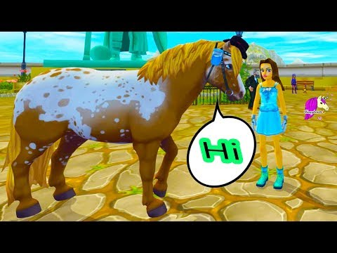 A Talking Pony !!! Mayor Peanut Can Talk in Star Stable Online Horse Quest Video Game