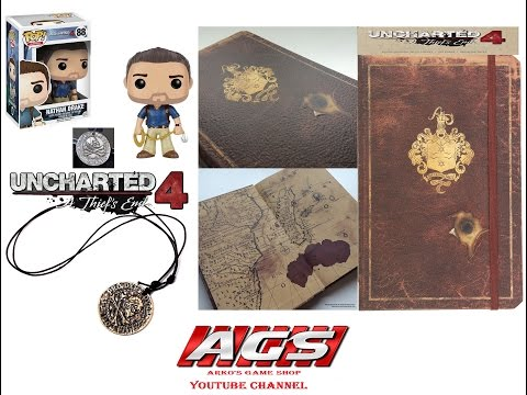 Uncharted 4 Henry Avery Coin Pendant, Insights Journal & Drake's Funko Pop Figure - Unboxing Video