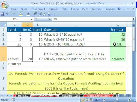 Highline Excel Class 02: Excel Formulas & Excel Functions