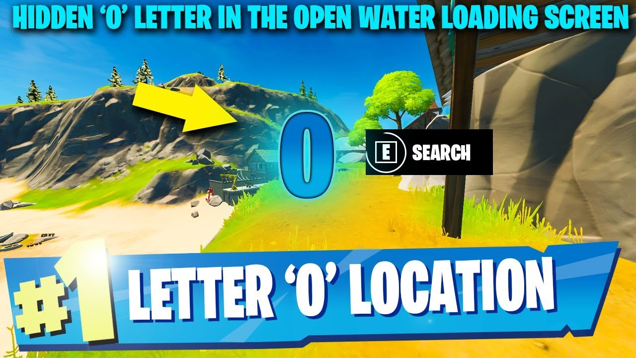 Search Hidden Letter O In The Open Water Loading Screen Location Guide Fortnite Chapter 2