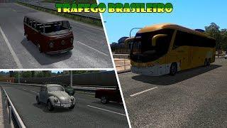 ETS 2 com mods - Tráfego brasileiro atualizado para a versão 1.32