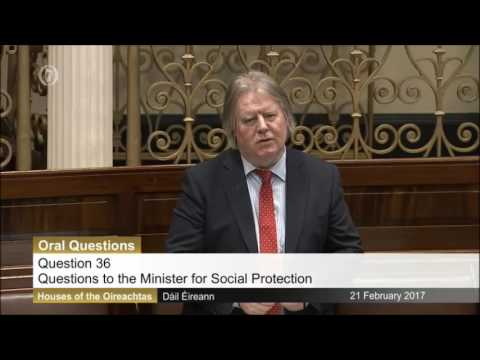 Tommy Broughan TD's questions with the Minister for Social Protection