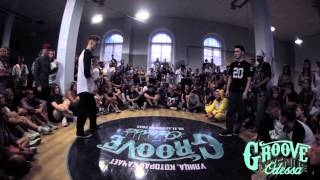 BOOGALO FREAK vs DAUREN | POPPING 1\2 |  GROOVE AVENUE 2015