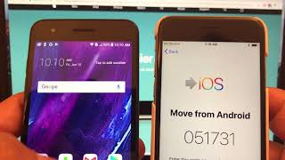 Move from Android to iPhone IOS Could not communicate with the device