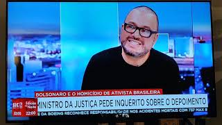 Caso Marielle - Bolsonaro - Comentario Anderson França - SIC Notícias 30 Outubro 2019 (Portugal)