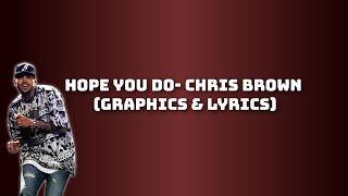Chris Brown- HOPE YOU DO (LYRICS & VISUALS)