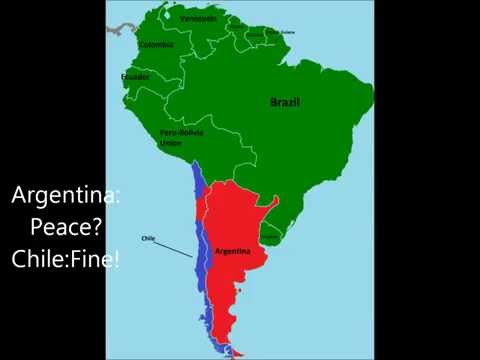 Alternative Future Of South America Episode 2: Chile and Argentina  Are Having Bad Relations