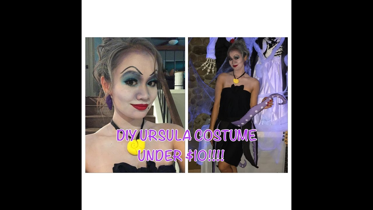 Diy ursula costume under 10 youtube diy ursula costume under 10 solutioingenieria Images